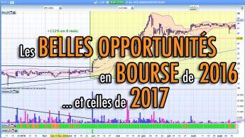 Les belles opportunités en bourse de 2016... et celles de 2017!