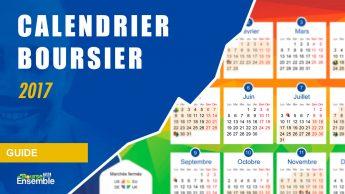 Le calendrier boursier 2017