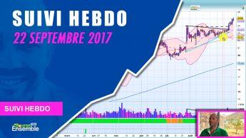 Suivi Hebdo au 22 septembre 2017