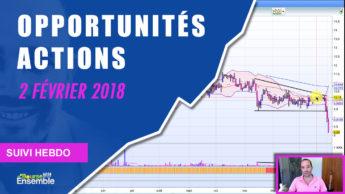 Opportunités actions au 2 février 2018 (Suivi hebdo bourse)