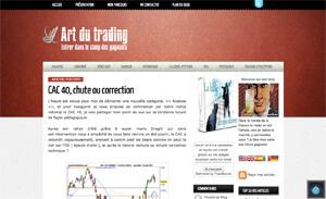 """Blog """"Art du trading"""""""