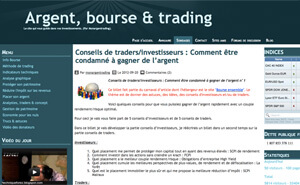 Mon argent trading
