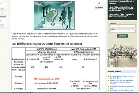 Euronext Alternext sur La Bourse à Long Terme