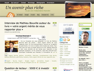 "Blog ""Avenir plus riche"""