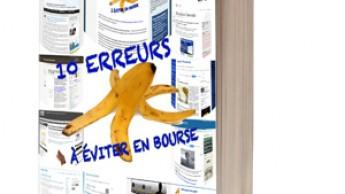 """Le livre """"10 erreurs à éviter en bourse livre"""""""