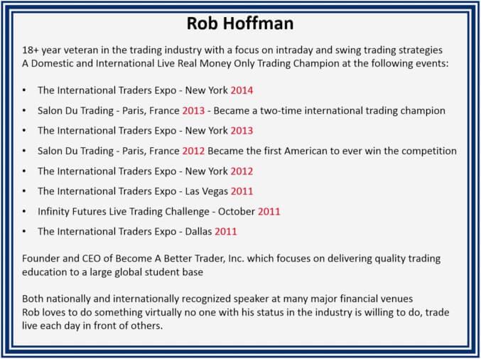 Championnats de trading gagnés par Rob Hoffman
