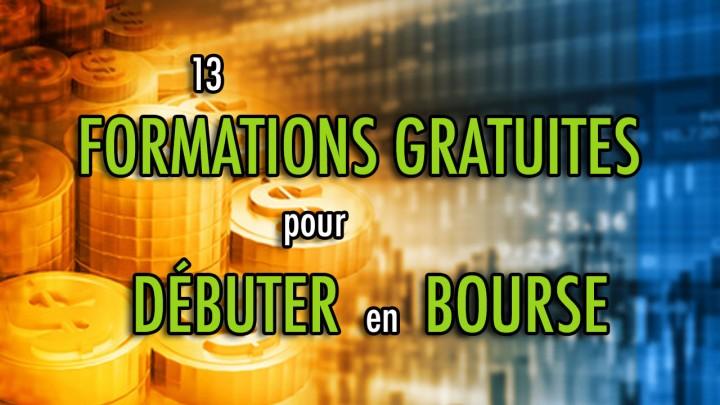 13 FORMATIONS gratuites pour DÉBUTER en bourse