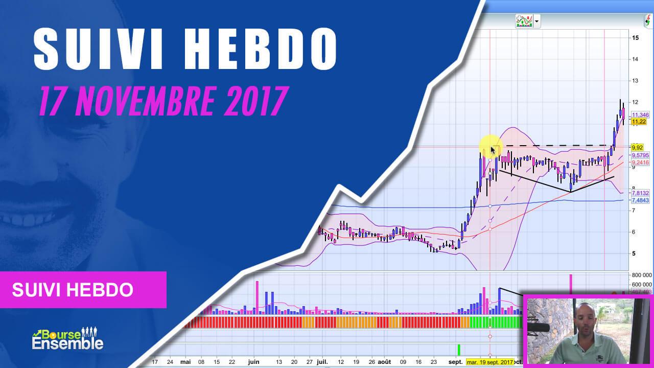 Suivi Hebdo au 17 novembre 2017