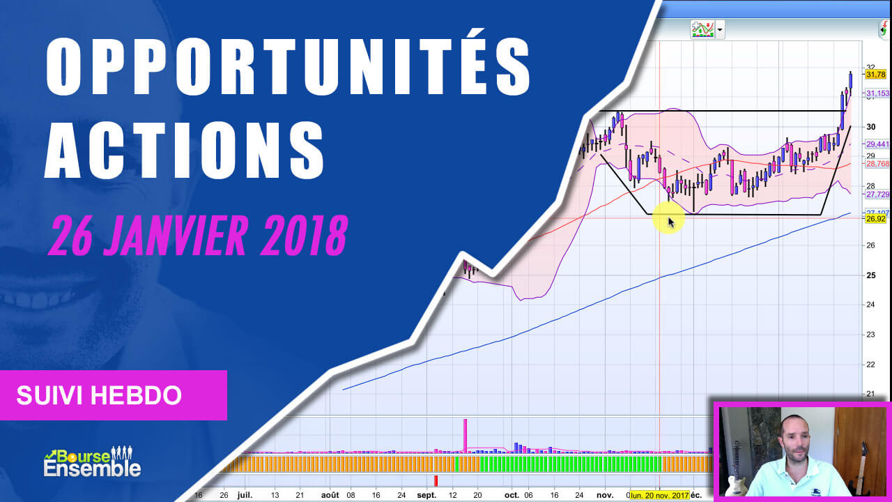 Opportunités actions au 19 janvier 2018 (Suivi Hebdo bourse)