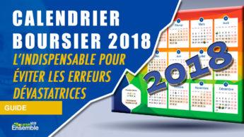 Calendrier boursier 2018 par Bourse Ensemble