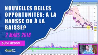 Nouvelles BELLES opportunités: à la HAUSSE ou à la BAISSE? (Suivi hebdo bourse 2 mars 2018)