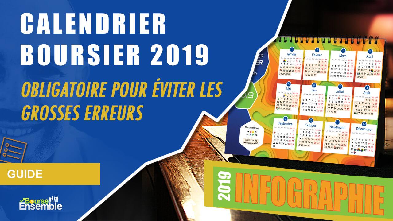 Calendrier boursier 2019
