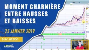 Moment CHARNIÈRE entre hausses et baisses... SÉLECTIF (Suivi hebdo bourse 25 janvier 2019)