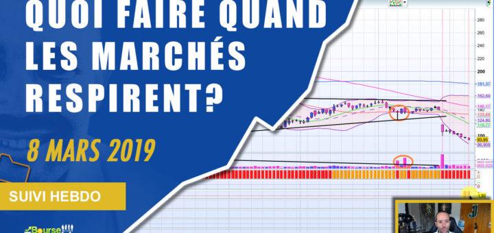Quoi faire quand les marchés respirent? (Suivi Hebdo Bourse 8 mars 2019)
