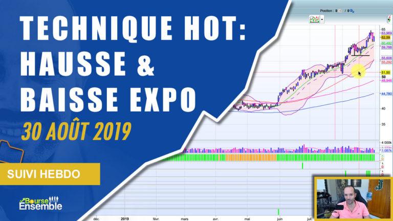 TECHNIQUE HOT: Hausse & Baisse Expo! (Suivi Hebdo Bourse 30 août 2019)