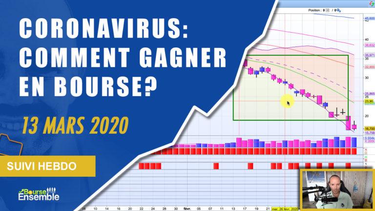 CORONAVIRUS: COMMENT GAGNER EN BOURSE? (Extrait Suivi Hebdo Bourse 13 mars 2020)
