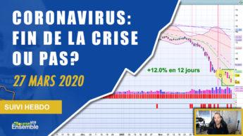 CORONAVIRUS: FIN DE LA CRISE OU PAS? (Extrait Suivi Hebdo Bourse 27 mars 2020)